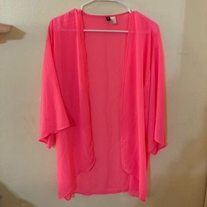 ❤️ 2 for $10❤️ pink sheer kimono